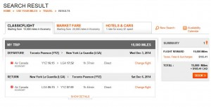 Aeroplan rewards more expensive than cash fare