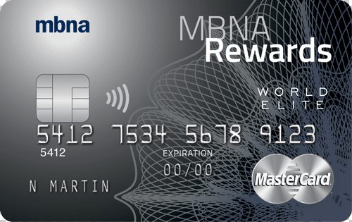 MBNA Rewards World Elite MasterCard Review: Get 2% Back On Every Purchase