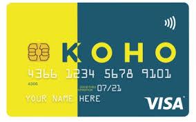 KOHO prepaid Visa